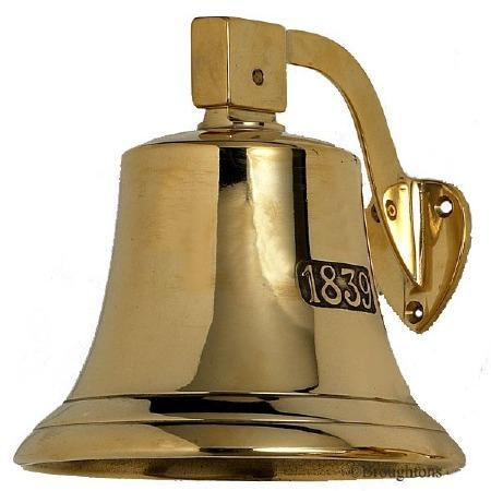 Ships Bell 1839 (19cm) Polished Brass