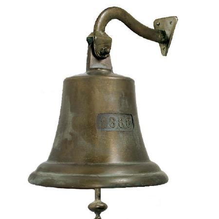 Ships Bell 1888 Antique Copper