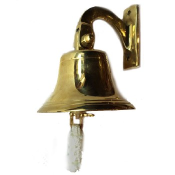 """Ships Bell 4"""" Polished Brass"""