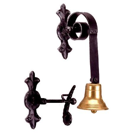 Shop Door Bell Black & Brass
