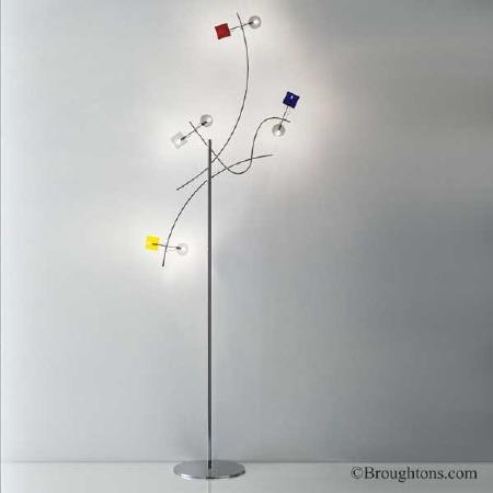 Sil Lux Barcelona Floor Lamp Chrome