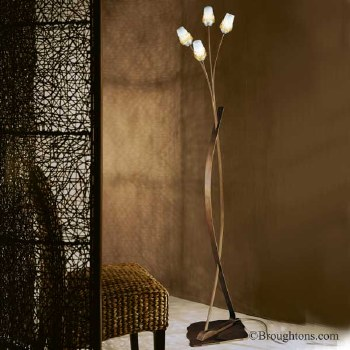 Sil Lux Mosca Floor Lamp Antique Brown