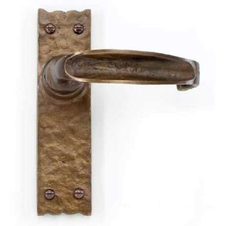 Simple Door Handles Country Bronze