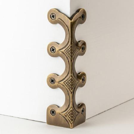 Skiffer Skirting Board Corner Protector Antique Brass 134mm