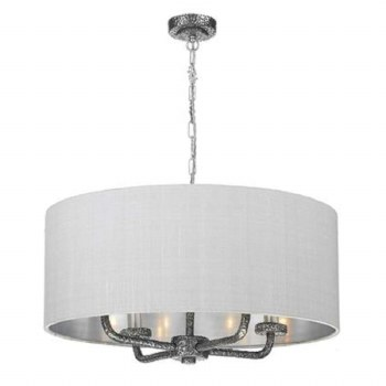 David Hunt SLO0499-SI Sloane 4 Light Shaded Pendant Pewter