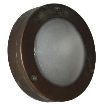 Flush Light For Steps Plain Antique Copper