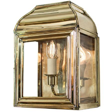 Small Hemingway Wall Lantern Polished Brass