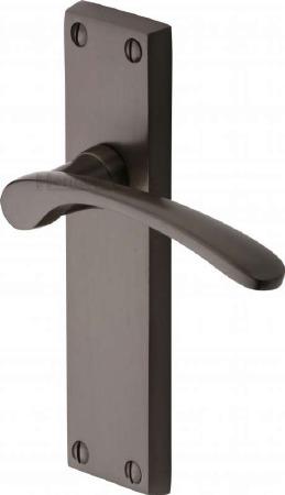 Heritage Sophia Latch Door Handles V4113 Matt Bronze