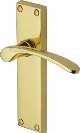 Heritage Sophia V4113 Door Handles Polished Brass Lacquered