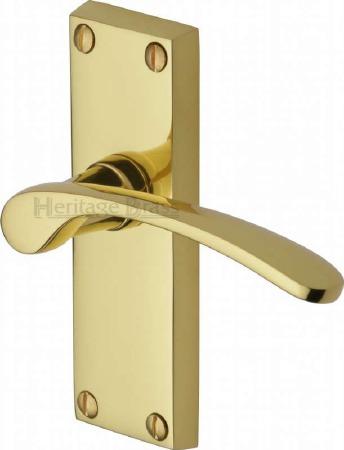 Heritage Sophia V4140 Door Handles Polished Brass Lacquered
