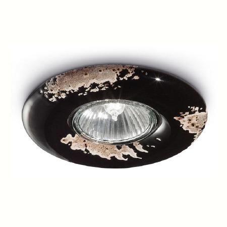 Italian Ceramic Spot Light C481 Vintage Nero