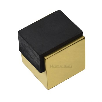 Heritage Floor Mounted Door Stop V1082 Polished Brass