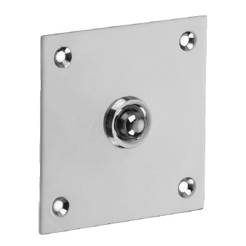 Croft 1911 Square Door Bell Push Polished Chrome