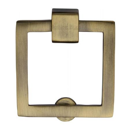 Heritage Square Cabinet Drop Handle C6311 Antique Brass