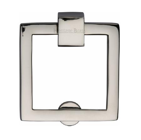 Heritage Square Cabinet Drop Handle C6311 Polished Nickel