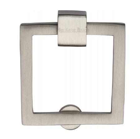 Heritage Square Cabinet Drop Handle C6311 Satin Nickel
