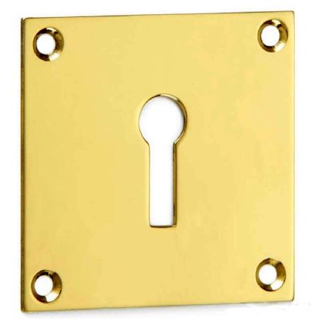 Croft Square Escutcheon 4575 Standard Profile Polished Brass Unlacquered