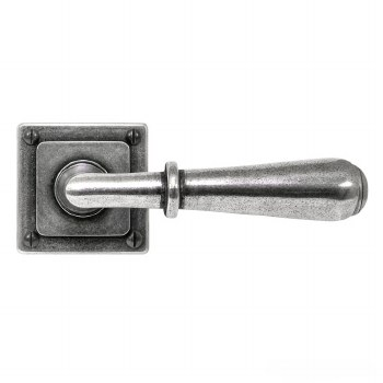 Finesse Fenwick Door Handles on Square Rose FD087Solid Pewter