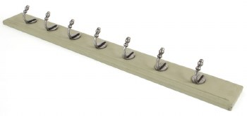 From The Anvil Stable Coat Rack on Green Painted Wood
