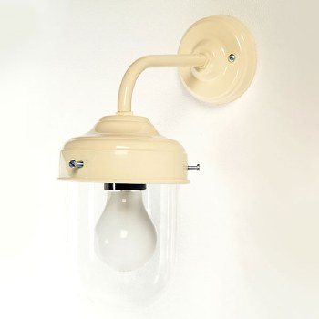 Stable Outdoor Wall Lamp Cream