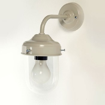 Stable Outdoor Wall Lamp Putty Grey