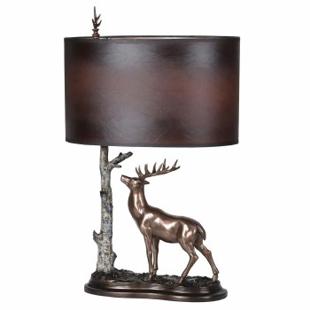 Stag Proud Table Lamp & Shade PY226