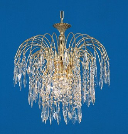 Starlite Chandelier Gold & Crystal 3 Light