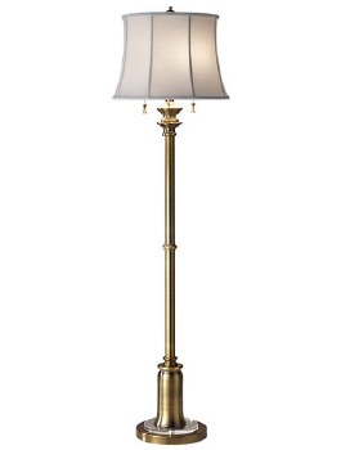 Feiss Stateroom Floor Lamp Bali Brass