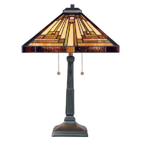 Quoizel Stephen Tiffany Table Lamp Vintage Bronze
