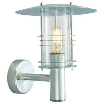 Elstead Stockholm Outdoor Wall Light Galvanized