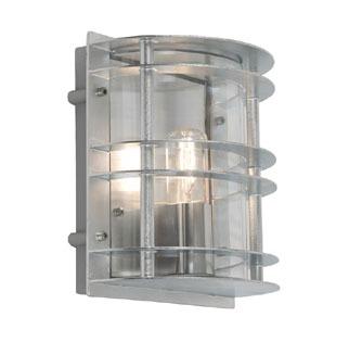 Elstead Stockholm Flush Outdoor Light Galvanised Clear Glass
