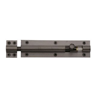 "Heritage Straight Door Bolt C1584 6"" Matt Bronze"