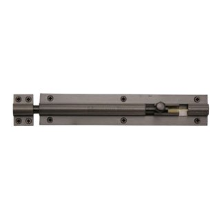 "Heritage Straight Door Bolt C1584 8"" Matt Bronze"