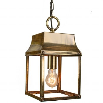 Strathmore Hanging Small Lantern Light Antique Brass