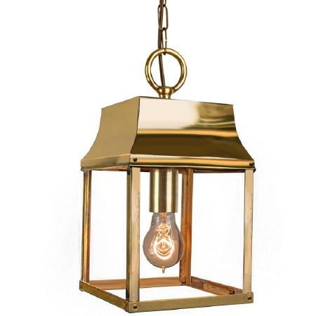 Strathmore Hanging Lantern Small Polished Brass