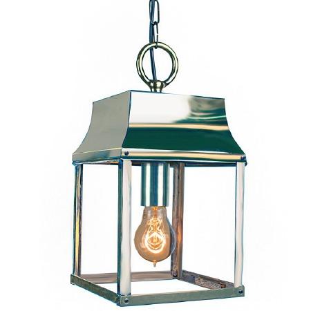 Strathmore Hanging Lantern Small Polished Nickel