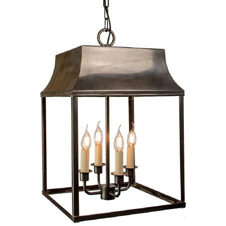 Strathmore Hanging Lantern Large Antique Brass