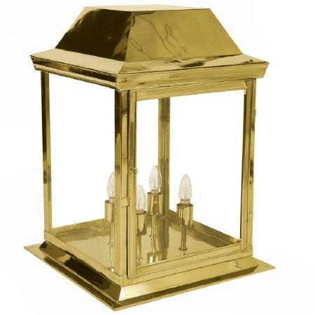Strathmore Gate Post Lantern Large Polished Brass
