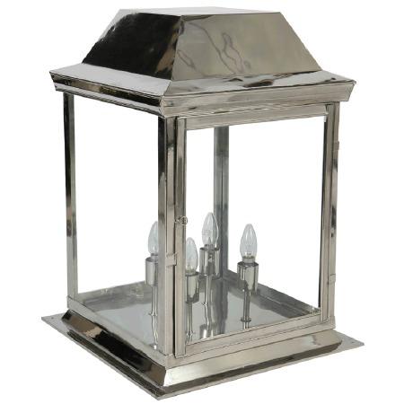Strathmore Gate Post Lantern Large Polished Nickel