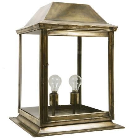 Strathmore Gate Post Lantern Medium Renovated Brass