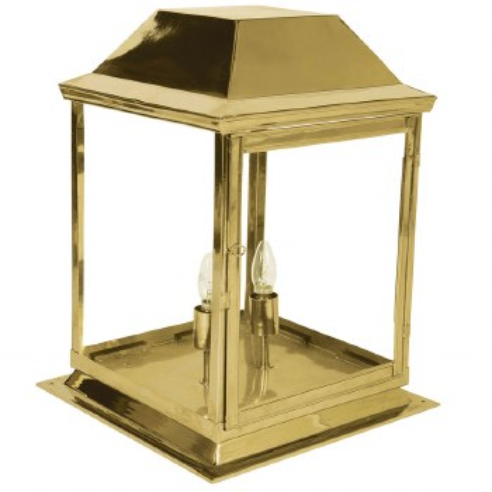 Strathmore Gate Post Lantern Medium Polished Brass