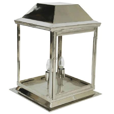 Strathmore Gate Post Lantern Medium Nickel