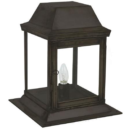 Strathmore Gate Post Lantern Small Antique Brass
