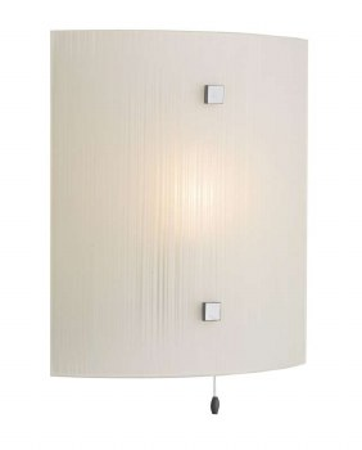 David Hunt SWL0767 Swirl Flush Wall Light Pewter with White Glass