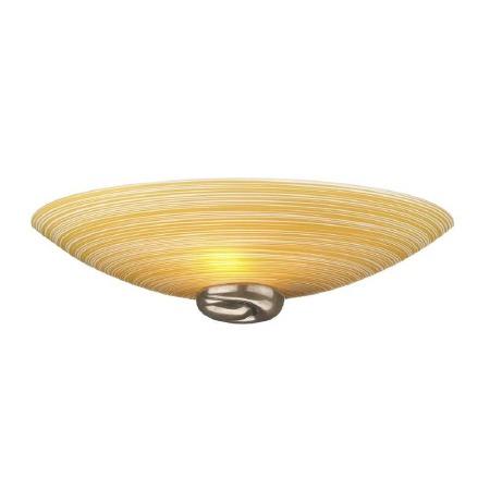 David Hunt SWW0763 Swirl Wall Washer Light Bronze with Amber Glass