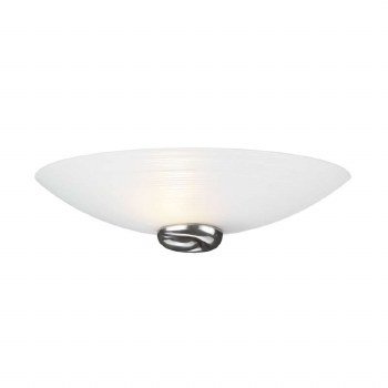 David Hunt SWW0767 Swirl Wall Washer Light Pewter with White Glass
