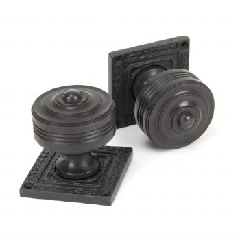 From The Anvil Tewkesbury Square Rose Mortice Knobs Aged Bronze