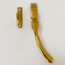 Aston Window Handle with Night Vent Polished Brass Unlacquered Right Hand