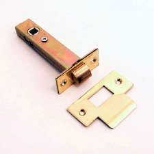 Tubular Mortice Door Latch 100mm Polished Brass Unlacquered