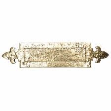 Kirkpatrick B1073 Fleur De Lys Letterplate 362mm Polished Brass